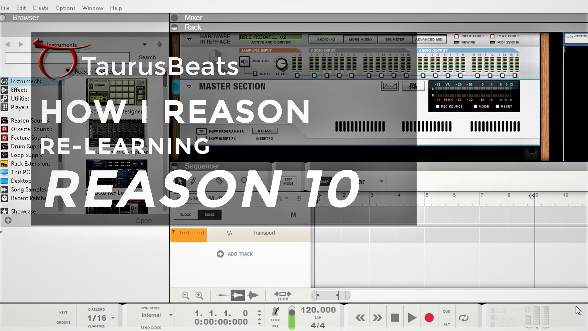 image for Lesson 21 Make Beats with Reason ReDrum
