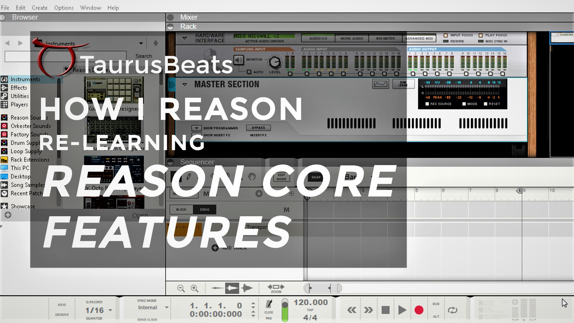 image for Session 10 Bounce Audio to MIDI and Join Clips to Make Loops in Reason Comp Editor