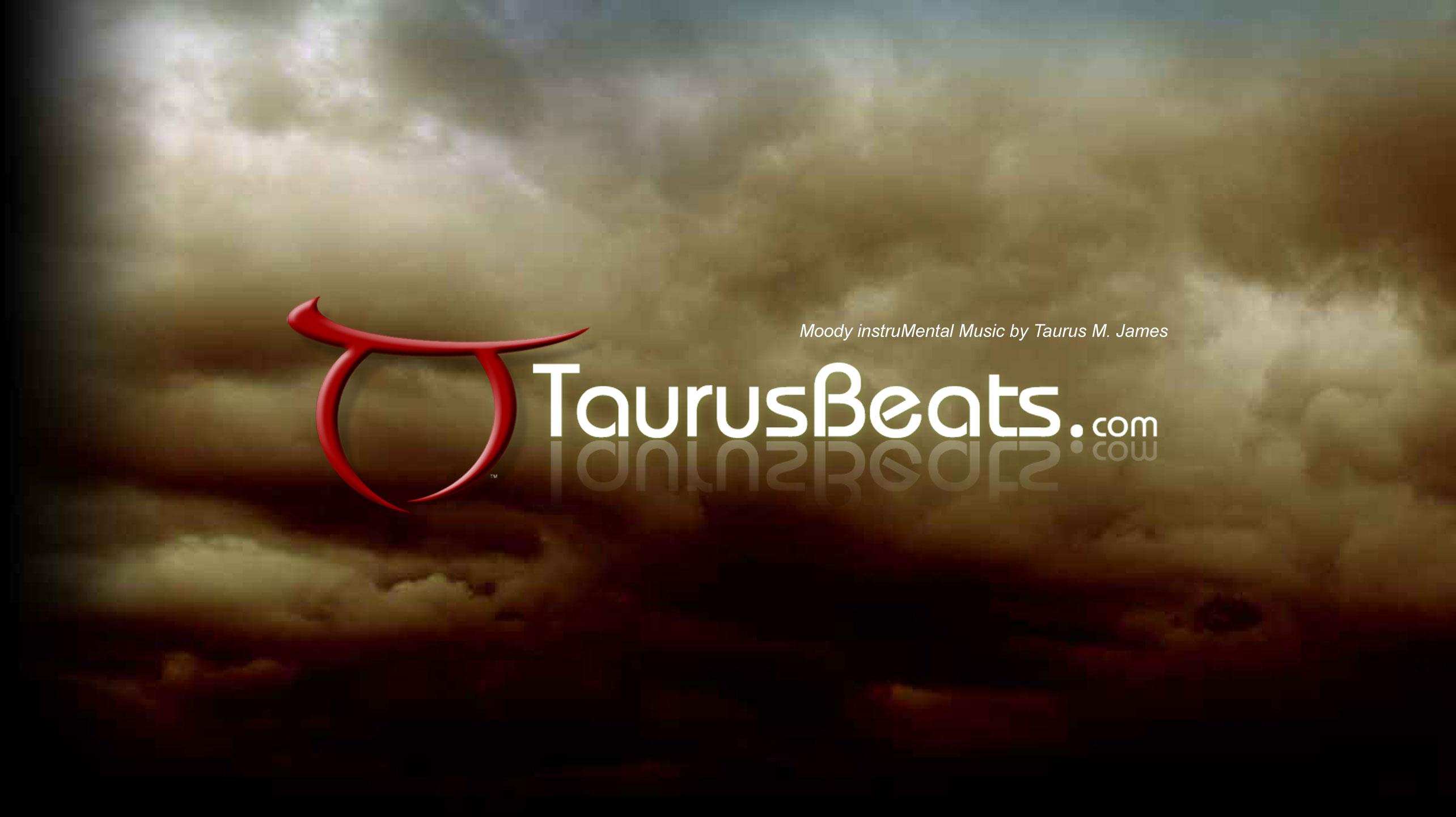 TaurusBeats video intro image of TaurusBeats.com logo in storm clouds