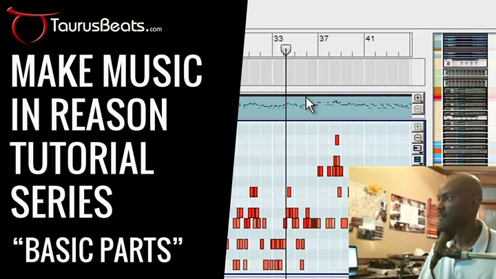image for Make Music In Reason Tutorial - Basic Parts