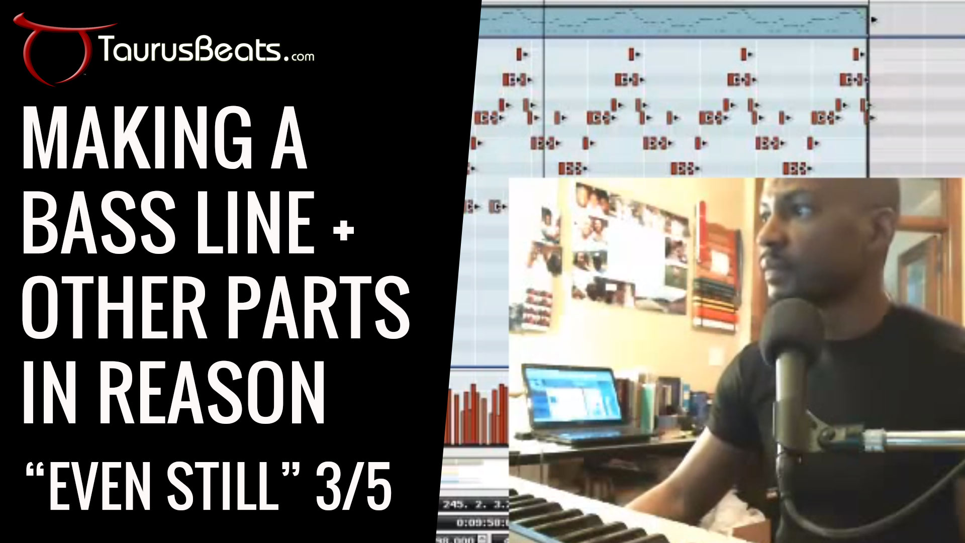 image for Making A Bass Line In Reason - Even Still Part 3