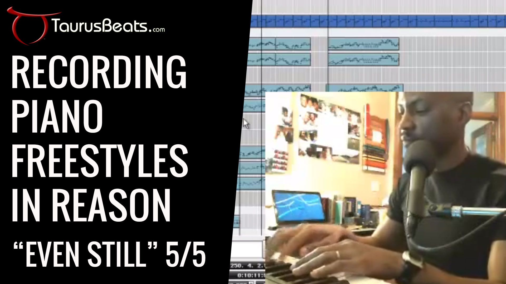 image for Recording Piano Freestyles In Reason - Even Still Part 5