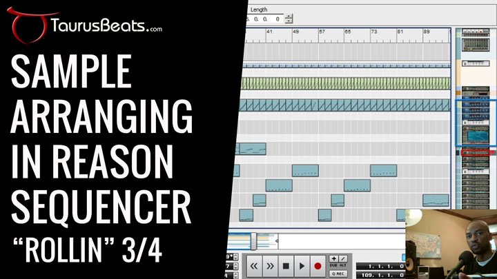 image for Sample Arranging in Reason Sequencer