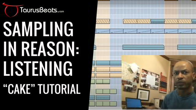 image for Listening and Advanced Sampling In Reason Tutorial - Cake Part 1